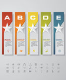Design star number banners template. with set of business icons. Stock Photos