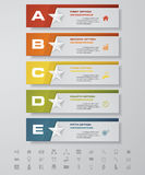 Design star number banners template. with set of business icons. Royalty Free Stock Photos