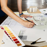 Design Studio Architect Creative Occupation Blueprint Concept Stock Image