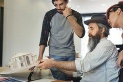 Design Studio Architect Creative Occupation Meeting Blueprint Co stock photos