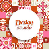Design studio background mosaic tile decoration Stock Photos