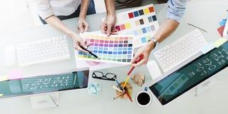 Design Studio Creativity Ideas Teamwork Technology Concept Royalty Free Stock Photos