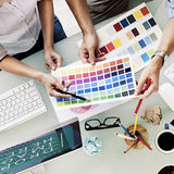 Design Studio Creativity Ideas Teamwork Technology Concept Royalty Free Stock Photography