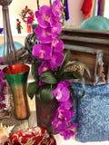 Design studio. Vase flowers Accessory Royalty Free Stock Photos