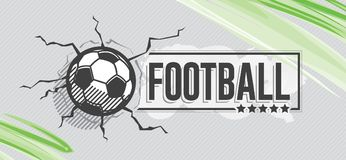 Football icon and grunge, watercolor background Royalty Free Stock Images