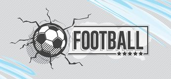 Football icon and grunge, watercolor background Stock Photos