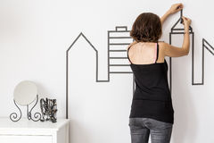 Design stylist in home interior Royalty Free Stock Photo