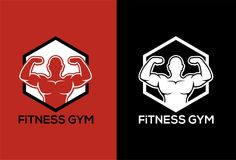 FITNESS, GYM LOGO Royalty Free Stock Photography