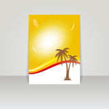 Design for summer  flyer . Royalty Free Stock Photography