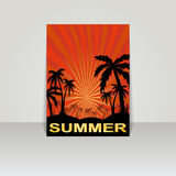 Design for summer  flyer . Stock Photo