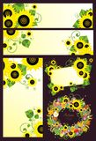 Design with sunflowers Stock Photography