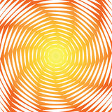 Design sunny swirl motion illusion background. Abstract strip torsion colorful backdrop. Vector-art illustration Stock Image