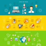 Design support banner horizontal Royalty Free Stock Photography
