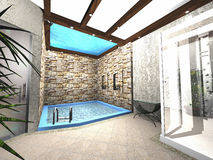 Design of swimming pool. Design of small swimming pool Royalty Free Stock Photography