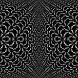 Design symmetric lacy diagonal warped pattern Royalty Free Stock Photo