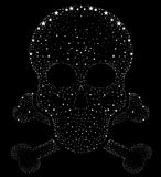Design for t-shirt print with skull and textures. vector illustr Stock Photo