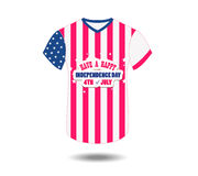 Design t-shirt United States of America for happy independence day 4th of july.  Royalty Free Stock Photography