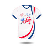 Design t-shirt United States of America for happy independence day 4th of july.  Royalty Free Stock Images