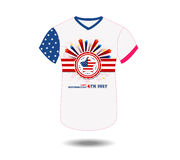 Design t-shirt United States of America for happy independence day 4th of july.  Royalty Free Stock Photo