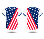Design t-shirt United States of America for happy independence day 4th of july.  Stock Photo