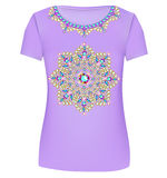 Design T-Shirts. Print a fashionable ornament for women's fashio Royalty Free Stock Photo