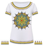 Design T-Shirts. Print a fashionable ornament Royalty Free Stock Photography