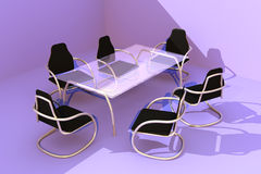 Design Table and Chairs 3 Royalty Free Stock Photography