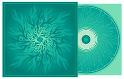 CD cover in turquoise. Design tamplate with CD and cover stock illustration