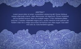 Design tamplate mit abstraktem Blumenhintergrund Lizenzfreies Stockfoto