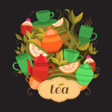 Design tea packaging. Royalty Free Stock Photography