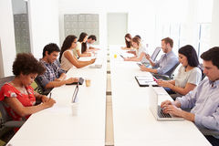 Design Team Collaborating On Project Together Stock Images
