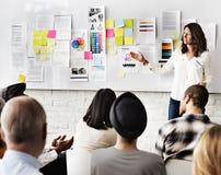 Design Team Meeting Presentation Creative Concept fotografering för bildbyråer