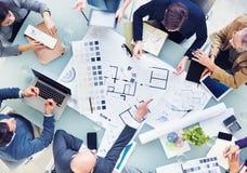 Design Team Planning för ett nytt projekt Arkivfoton
