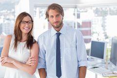 Design team standing in office Royalty Free Stock Images