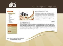 Design template. Abstract business web site design template, vector illustration Royalty Free Stock Images