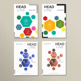 Design template abstract hexagonal shapes Stock Images