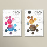 Design template abstract hexagonal shapes Stock Photography
