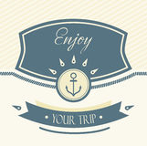 Design Template With Anchor Royalty Free Stock Photo