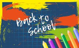 Design template Back to School for banner or poster. Abstract co Stock Images