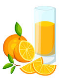 Design Template banner, poster, icons orange smoothies. Illustration of orange juice Drink me. Freshly squeezed tropical orange ju. Ice for healthy life. A glass Stock Illustration