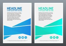 Design Template. Blue and green geometric gradients. Cover book or brochure. Abstract modern background. Vector stock illustration
