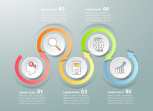 Design template business concept infographic template Stock Image