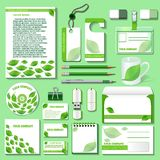 Design template for business objects from an environmental theme Royalty Free Stock Image