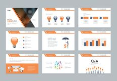 Design template for business presentation  with infographic elements design Stock Image