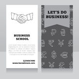 Design template for business school banner Stock Photo
