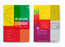 Design template can use for brochure background Royalty Free Stock Photos
