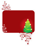 Design template with christmas tree. Design template with green christmas tree red Stock Photo