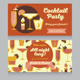 Design template for cocktail party in retro style Stock Photo