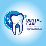 Health Dent Logo design vector. Cosmetic dental dentistry. Denta. Design template dental logo. Dental Logo Design Vector Stock Photography
