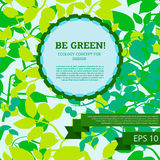 Design template for ecological banner. Vector illustration Royalty Free Stock Image